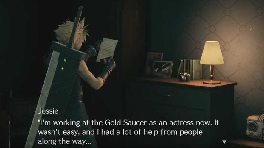 Final Fantasy VII Remake - Jessie attrice al Gold Saucer